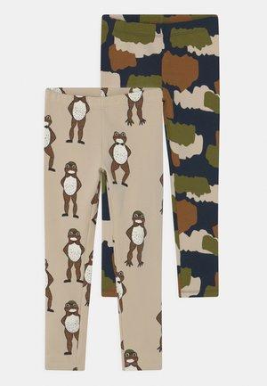 2 PACK UNISEX - Leggings - Trousers - light beige