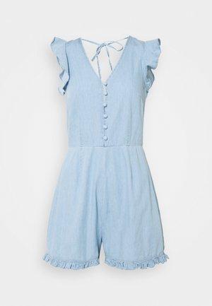 FRILL BACKLESS PLAYSUIT - Jumpsuit - blue