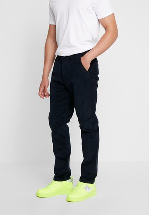 CROPPED - Trousers - navy