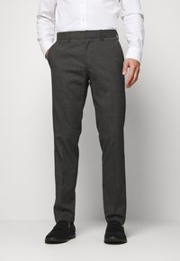Isaac Dewhirst - RECYCLED CHECK DOUBLE BREASTED SUIT - Kostym - anthracite - 4