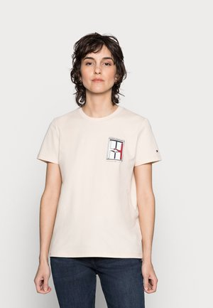 ONE PLANET TEE - Print T-shirt - ecru