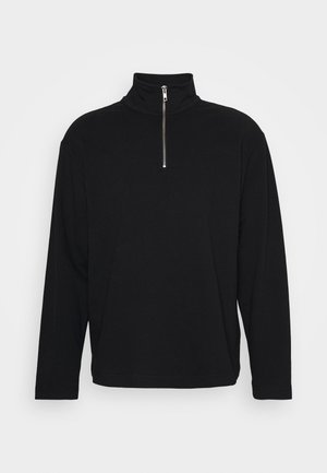 UNISEX TOBIAS HALFZIP LONGSLEEVE - Maglietta a manica lunga - black