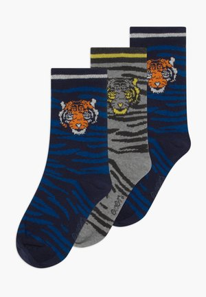 KINDERSÖCKCHEN TIGER 3 PACK - Socks - navy/grau