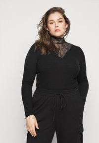 Pieces Curve - PCSIRI TURTLENECK - Strikkegenser - black - 0