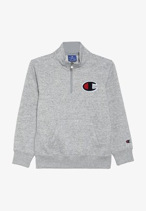 ROCHESTER LOGO HALF ZIP - Sweatshirt - mottled grey
