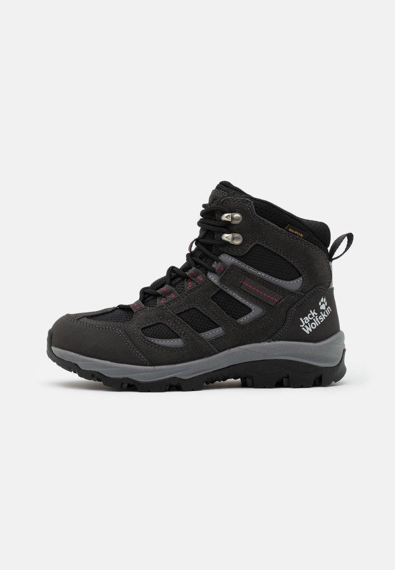 Jack Wolfskin - VOJO 3 TEXAPORE MID - Hiking shoes - dark steel/purple