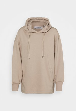 DOUBLE DRAWCORD SIDE SPLIT - Sweatshirt - beige