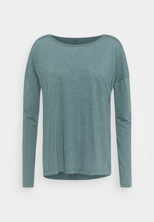 YOGA LAYER - Sports shirt - hasta/heather/light pumice/dark teal green