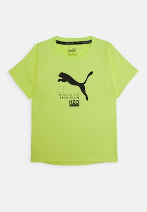 ACTIVE SPORTS TEE - Camiseta estampada - fizzy yellow