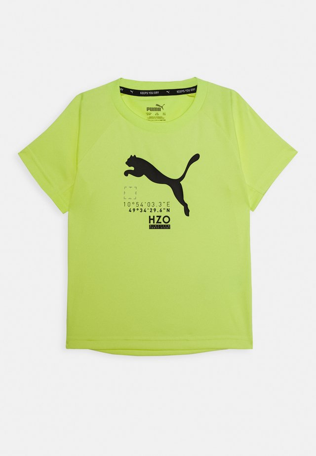 ACTIVE SPORTS TEE - Print T-shirt - fizzy yellow