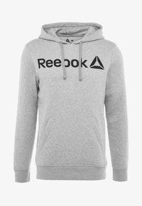 Reebok - TRAINING HOODIE - Hoodie - medium grey heather - 4