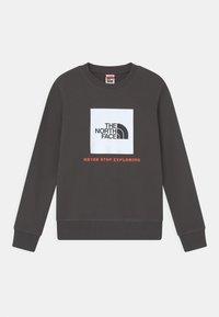 The North Face - BOX CREW UNISEX - Sweatshirt - asphalt grey/red orange - 0