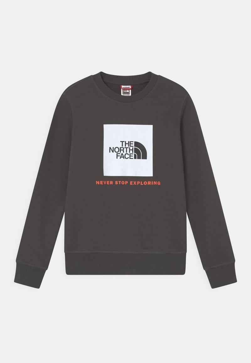 The North Face - BOX CREW UNISEX - Sweatshirt - asphalt grey/red orange