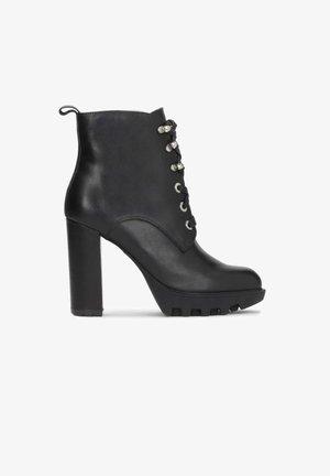 KOLET - Kotníková obuv na vysokém podpatku - black