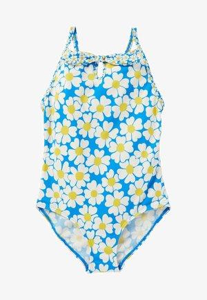Swimsuit - marokkoblau/gänseblümchenmuster
