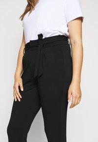 Vero Moda Curve - VMEVA PAPERBAG PANT - Bukse - black - 4