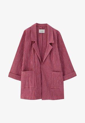 Krátký kabát - mottled pink