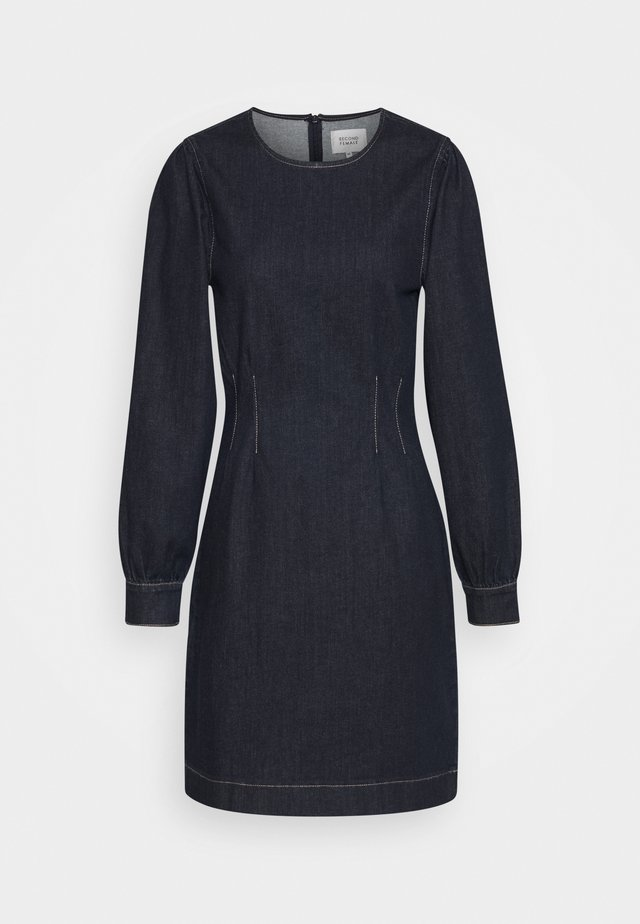 ANTOINET DRESS - Robe en jean - dark blue denim