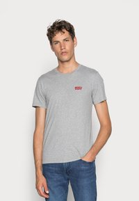 Levi's® - CREWNECK GRAPHIC 2 PACK - T-shirt con stampa - white/mid tone grey heather - 1