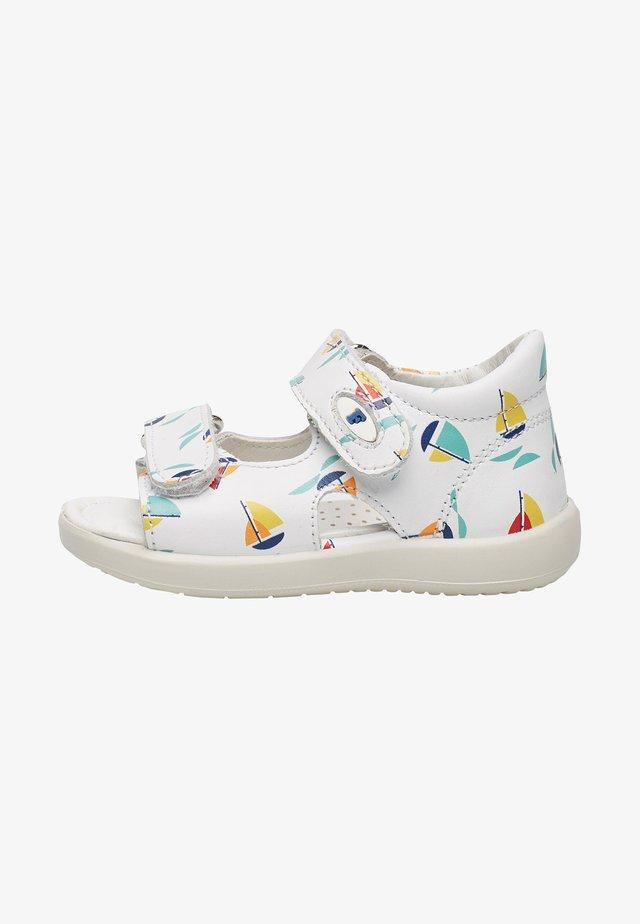 NEW RIVER APERTO CON STAMPA BARCHETTE - Walking sandals - weiß