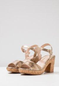 Dorothy Perkins - RHONDA WEDGE - High heeled sandals - gold - 4