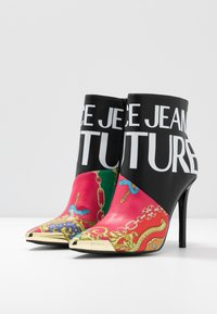 Versace Jeans Couture - HIGHT TOP STILETTO  - High heeled ankle boots - black - 4