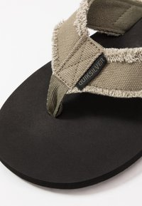 Quiksilver - MONKEY ABYSS - Slippers - green/black/brown - 5