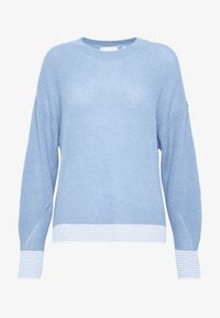 Rich & Royal - CREW NECK CONTRAST CUFF - Jumper - spring blue - 4