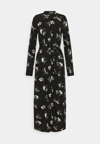 VMSIMPLY EASY LONG SHIRT DRESS - Maxiklänning - black