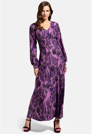 WITH LONG SLEEVES - Maxi dress - damson floral