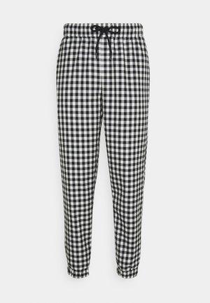 GINGHAM UNISEX - Trousers - black/white