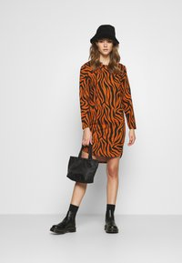 JDY - JDYIVY LIFE DRESS - Day dress - leather brown/black - 1