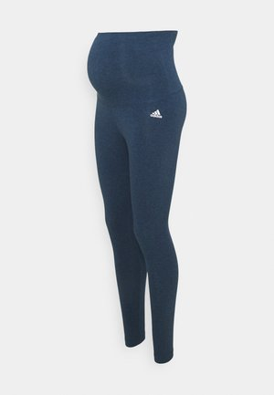 Legging - navy melange/white