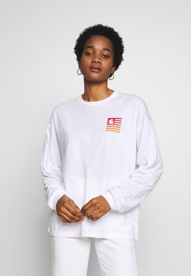 STATE GRADIENT - Maglietta a manica lunga - white