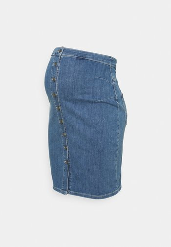 MLVILLA SKIRT - Spódnica ołówkowa  - medium blue denim