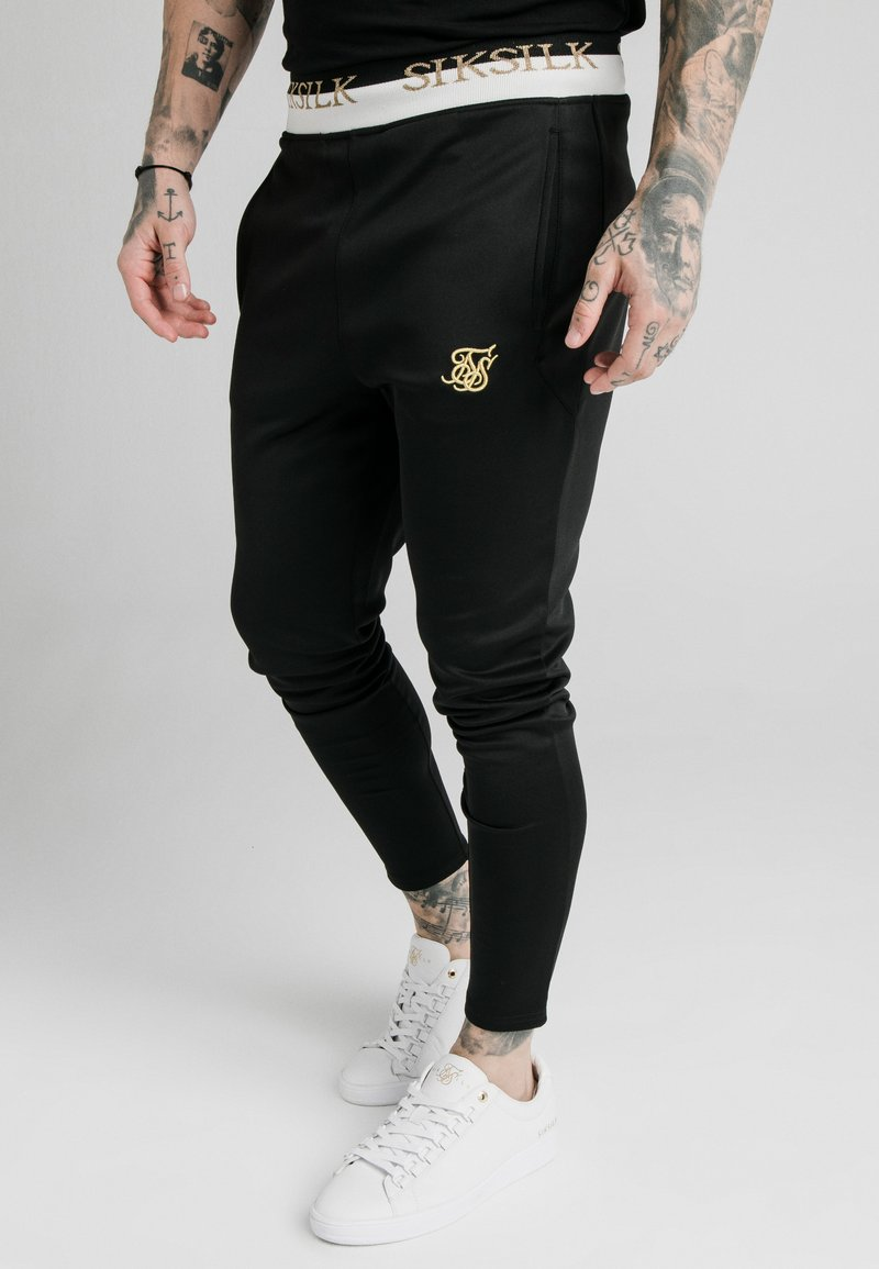 SIKSILK - DELUXE TRACK PANTS - Jogginghose - black
