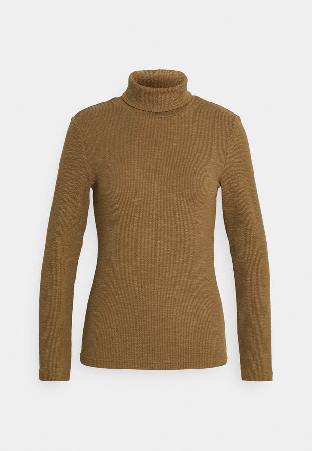 ONLJOANNA ROLLNECK - T-shirt à manches longues - toasted coconut