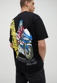 PULL&BEAR - T-shirt imprimé - black - 4