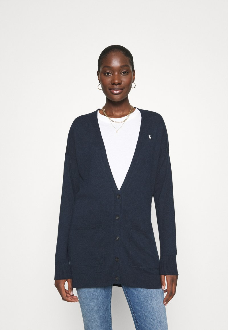Abercrombie & Fitch - ICON CARDI - Cardigan - navy