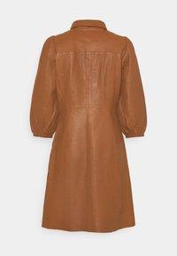 YAS - YASRUVENDA DRESS ICON - Shirt dress - tortoise shell - 1