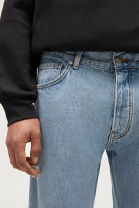 PULL&BEAR - Straight leg -farkut - light blue - 3