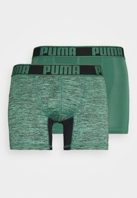 Puma - ACTIVE GRIZZLY BOXER 2 PACK - Culotte - green combo - 0