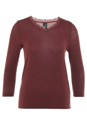 VMHONEY V-NECK - Jumper - madder brown