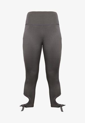 CUT OUT LEGGING - Legging - smoky grey