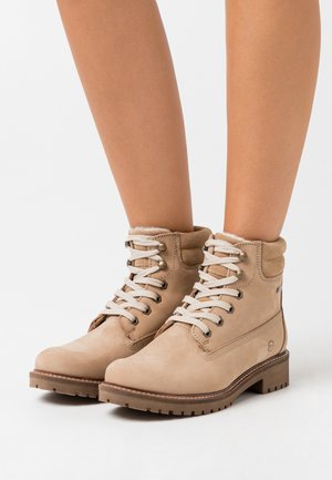 Lace-up ankle boots - sand