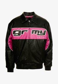 Grimey - LOOTER CULT JACKET - Kunstlederjacke - black - 3