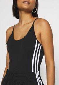 adidas Originals - ADICOLOR COTTON TANK - Topper - black/white - 4