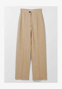 Bershka - LOOSE-FITTING WIDE-LEG - Pantaloni - camel - 4