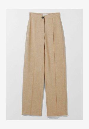 LOOSE-FITTING WIDE-LEG - Pantaloni - camel