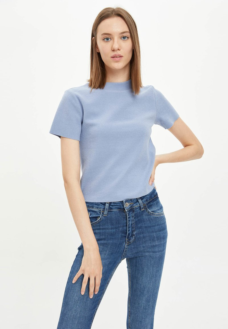 DeFacto - Basic T-shirt - blue